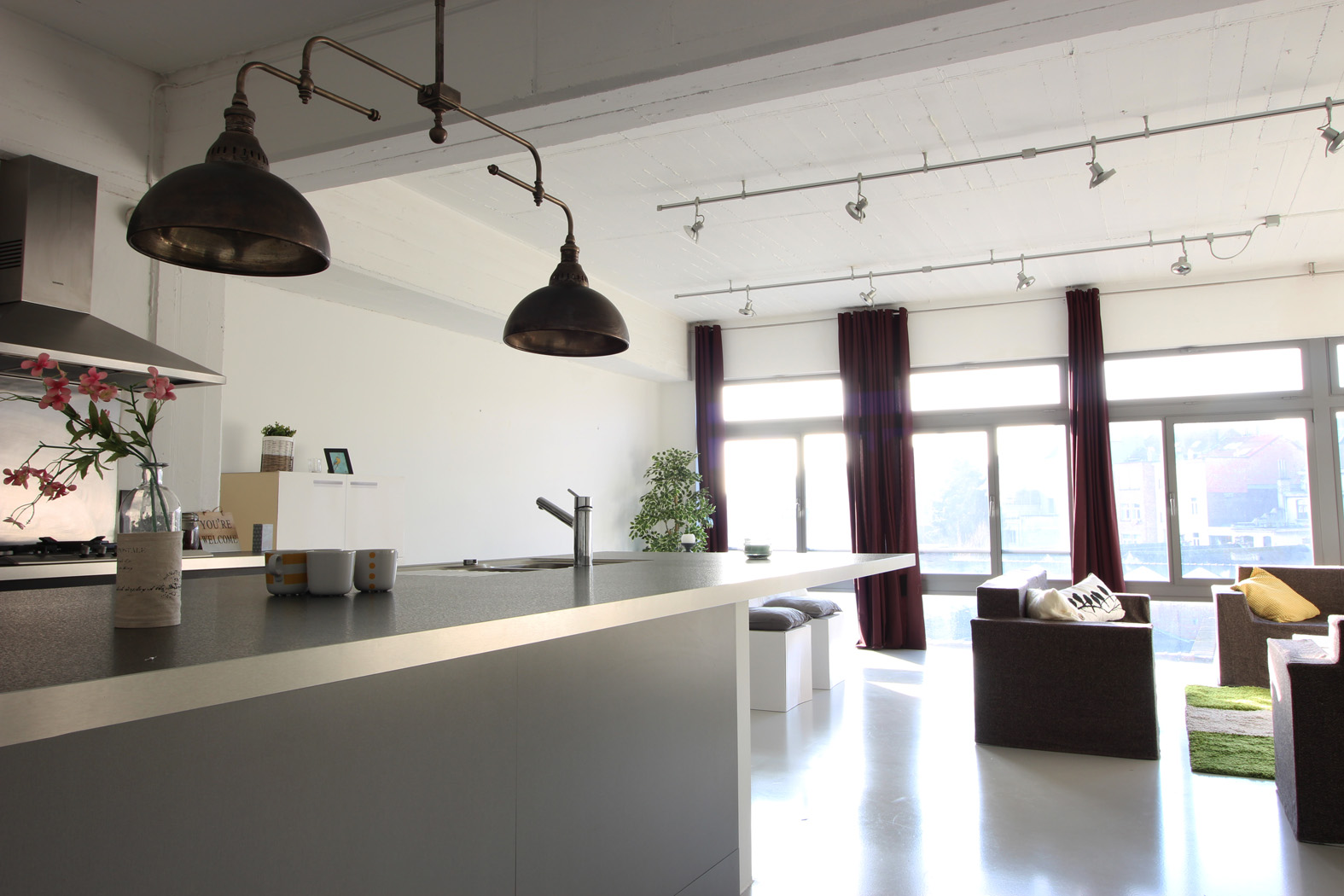 Modern Loft In Building With Lots Of Character